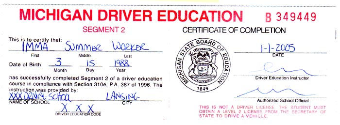 segment 2 drivers training practice test